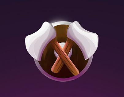 Battle Axe Game Design Illustration, opener animation