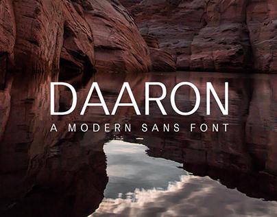Free Daaron Sans Serif Font