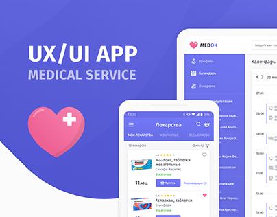 Medok - Medical Service UX/UI
