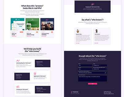 Agency's landing page