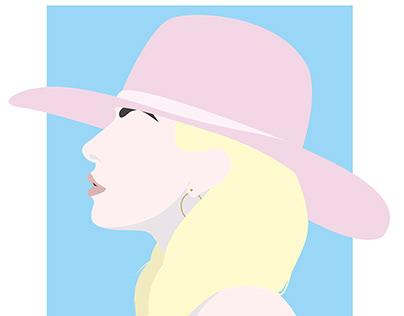 Minimal Portrait Lady Gaga