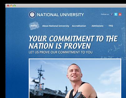 National University Microsite