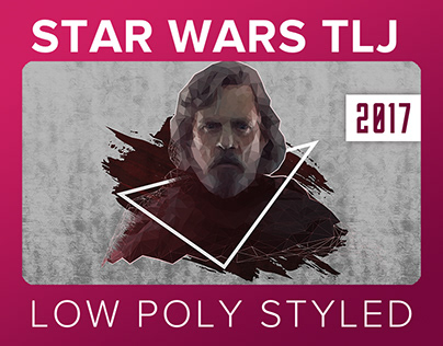 Star Wars The Last Jedi // Low Poly Wallpaper