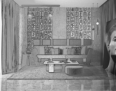 Sofa inspired by the ancient Egyptian style