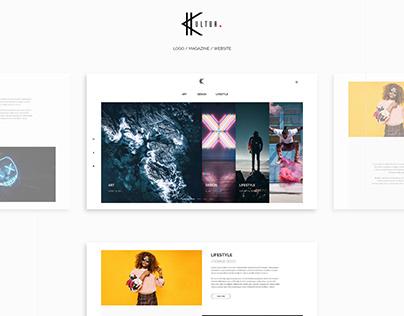 KULTUR - Logo / Website / Magazine Concept