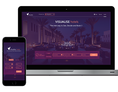 Visualise : An immersve Hotel booking website