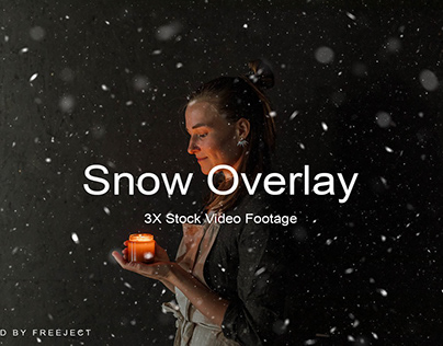 Free Download 3X Snow Footage Overlay