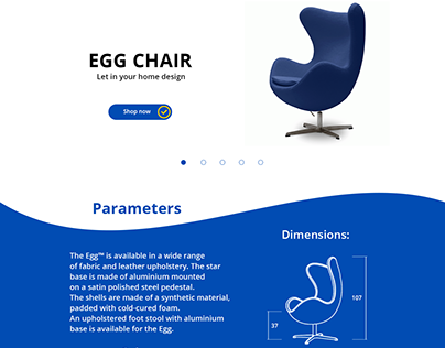 """Landing new page """"EGG CHAIR'"""