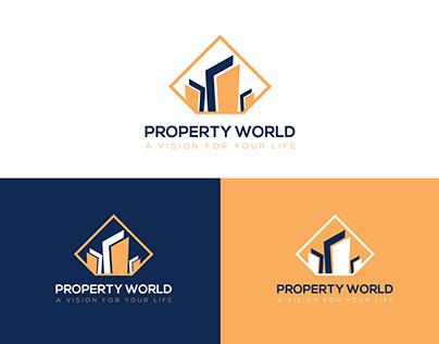 Real Estate Logo, Property World Logo