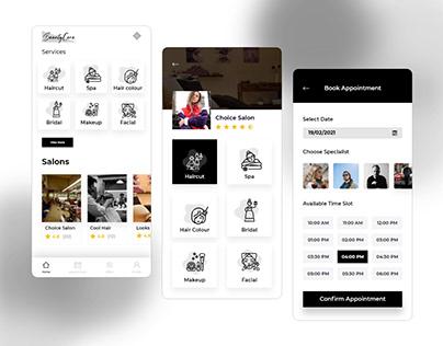 Barber & Salon App UI KIT