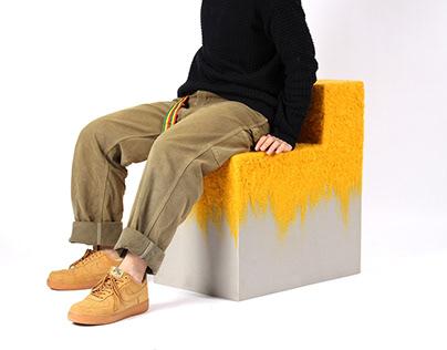 Wool N Sponge Stool project