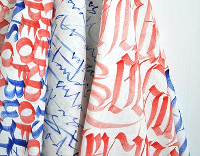 Calligraphy Fabric