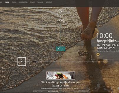 Elegance Hotels International Web Site UI Design