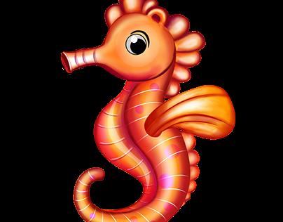 Sea World - Skill Game Character - Sea Horse