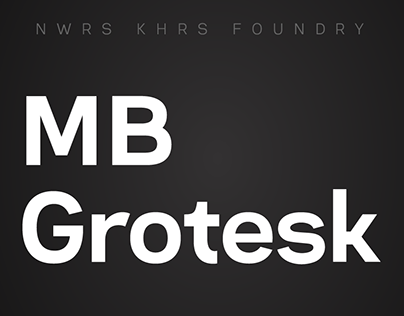 MB Grotesk Typeface