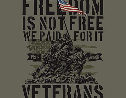US Veterans T shirt Design