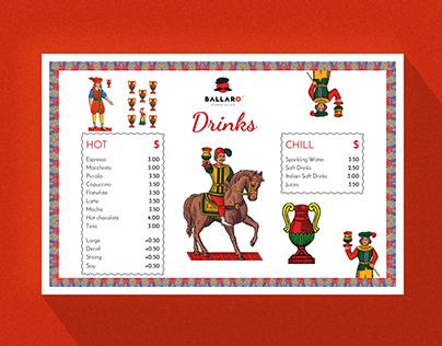Sicilian takeaway menu design