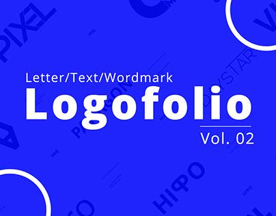Letter, Text, Wordmark Logos (Vol. 02)