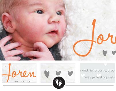 Geboortekaartje Joren