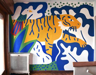Mural - Coco y Valentino