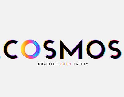 Cosmos. OTF SVG Hologram font family.