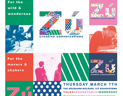 Zú Event - Conversations in Design Poster