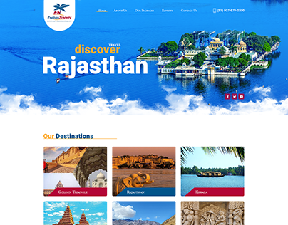 Indian Journey Website Design by ravisah.in