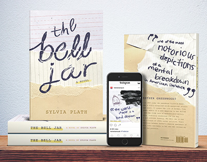 'The Bell Jar' typographic campaign