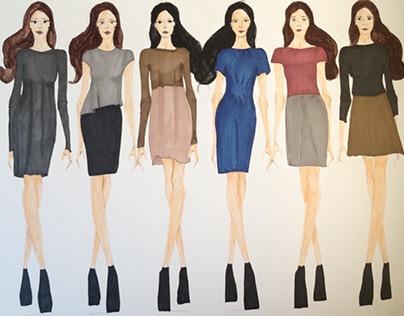 Fashion Illustration, including inspiration boards