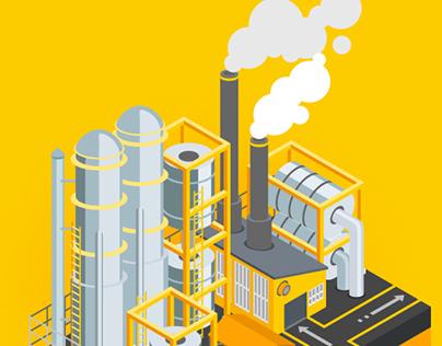 SAP. Isometric illustration for animation