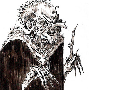 Inktober 2019 - Female horror characters - Ink