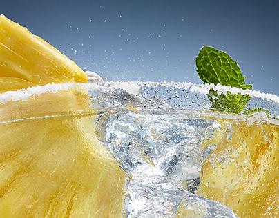 Soda bubble water