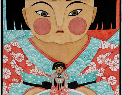 Japonesa con Kimono y Sopa | Japanese with Kimono and..
