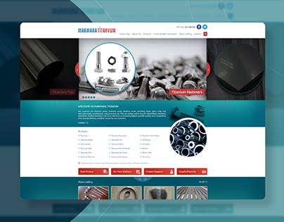 Marmara Titanyum Website Design