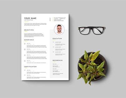 Free Simple Universal Resume Template