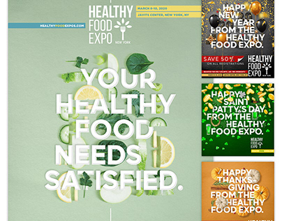 HEALTHY FOOD - 2020 and 2021 event campaign