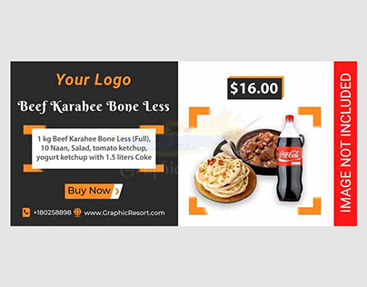 Free Food Deal Social Banner PSD Template