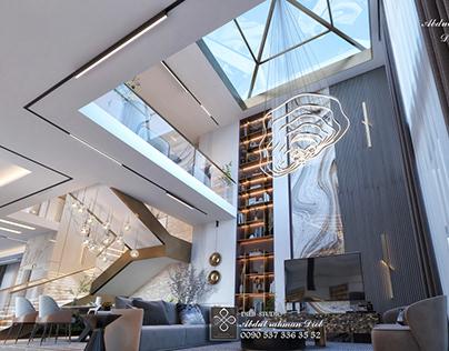 Luxury modern style living hall