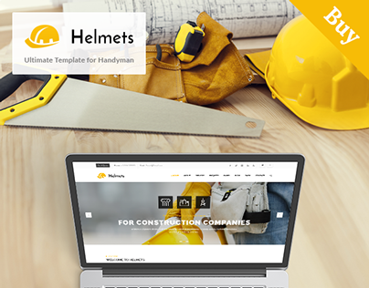 Helmets ultimate template for handyman on behance for Drupal 404 template