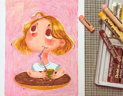 Oil Pastel Doodling