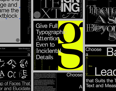 The Elements Of Typographic Style [Animated Posters]