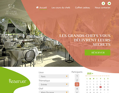 Maquette design et colorée de restaurant