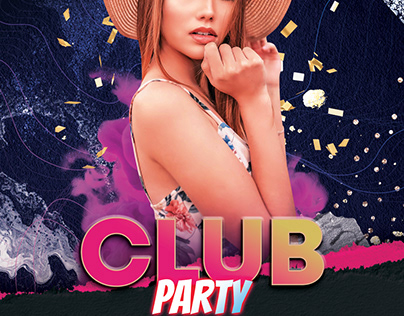 Club Party Music Free PSD Flyer Template
