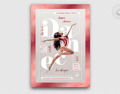 Dance Classes Flyer Template V4