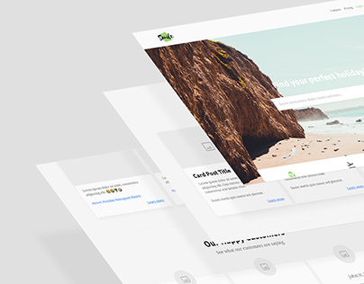 Commission Work - Tourist Agent Landing Page - UX/UI