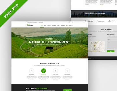 Green Fair - Free Eco/Natural PSD Template