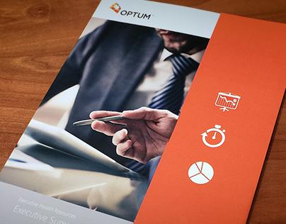 Optum infographic brochure/folder