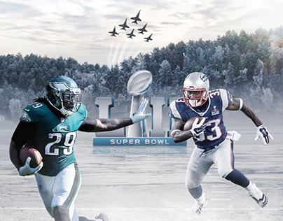 NFL Social Media Artwork : Super Bowl Eagles x Patriots