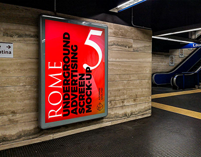Rome Underground Ad Screen Mock-Ups 2