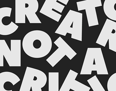 Typographic Poster Design 2 - Be A Creator Not A Critic